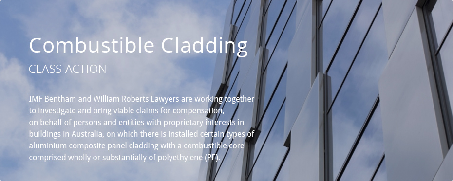 Combustible Cladding Class Action Slider